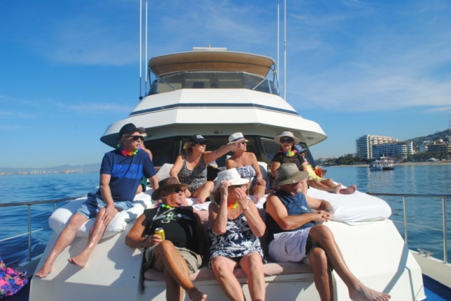 75 ft. Hatteras - Power Yacht - Up to 40 People - People on Bow