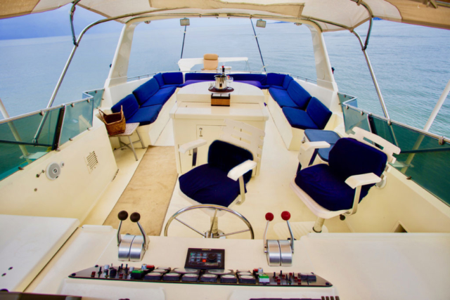 75 ft. Hatteras - Power Yacht - Up to 40 People - Fly-bridge