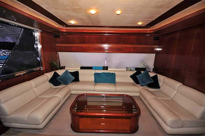 80-FT-Ferretti-Power-Yacht-Up-to-30-People-Main-Salon-Seating-Living-with-table