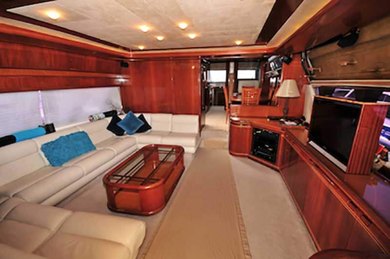 80-FT-Ferretti-Power-Yacht-Up-to-30-People-Large-ample-Salon-with-AC-Entertainment-Center-Lounges-Dining-Kitchen-Pilot-House-Dinette