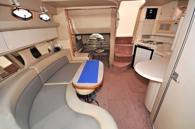37-ft.-SeaRay-Sundancer---Power-Yacht---Up-to-10-People-AC-Lower-Deck-Area-features-a-Galley-Dinnnig-TV-Stateroom