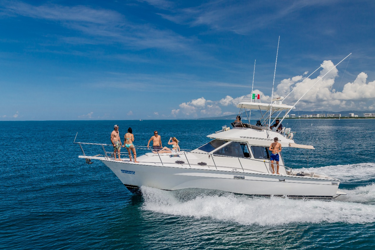 38 ft. Mediterranean Sport Fishing Boat - Up to 14 People Touring (8 Fishing Max)