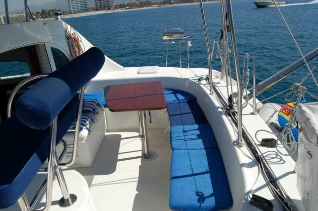 38 FT Lagoon Catamaran - Up to 20 People – (max. 8 to Marieta Islands)-cushioned-bench