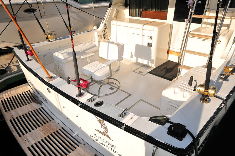 38 ft. Bertram - Fishing Yacht - Up to 10 People - Ample Fishing area fighting chair and coolers