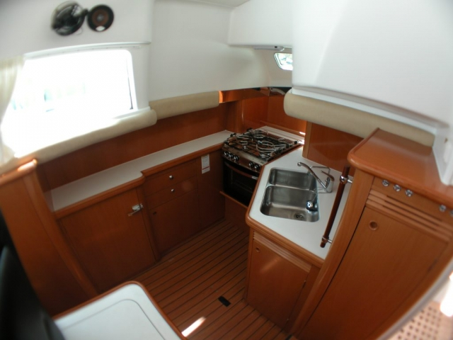 43-FT-Lagoon-Power - down galley and kitchen nicely equipped