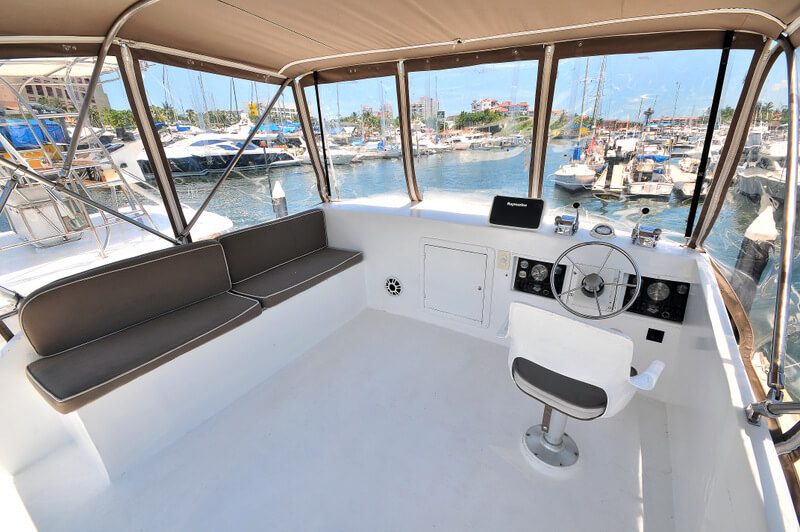 40 ft. Custom Luxury Fishing Boat - Up to 10 People - Full Canvas - Bimini Top spacious fly-bridge - helm