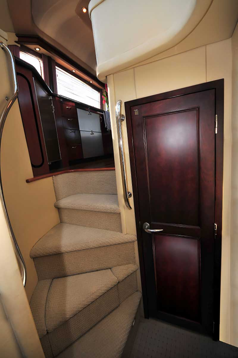 60 FT Sea Ray - Power Yacht - Up to 18 people - Nicely-upholstered-stairs-to-upper-Salon