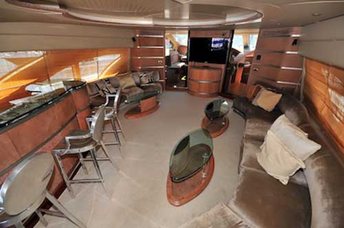 )8-Ft.-Azimut-Leonardo-Ample-Fully-Furbished--AC-Salon-with-plenty-of-seats-wetbar-dinner-table-and-Entertainment-Center