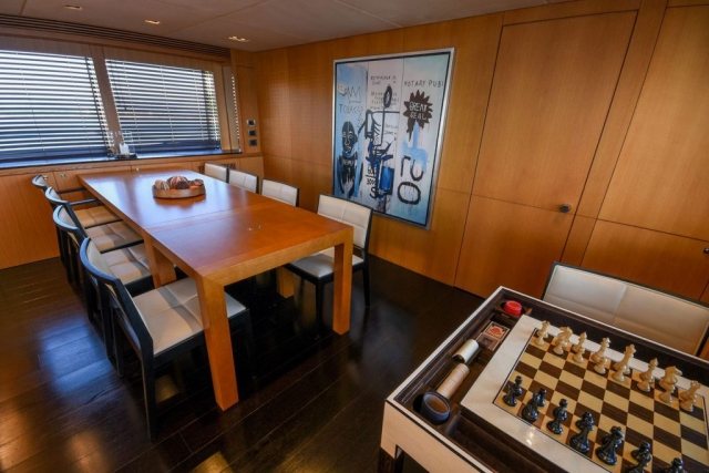 112 ft. Sunseeker Power Yacht - Large-Dining-over-the-fly-w-Sunroof