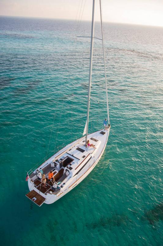 48 ft. Sun Odyssey 479 - Luxury Sailboat - Up to 8 People - aerial view