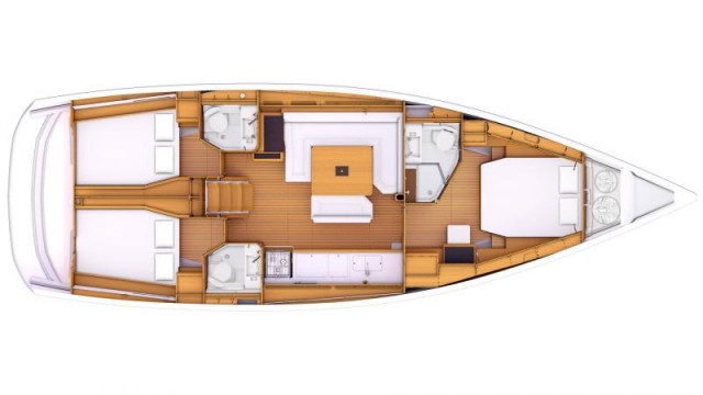 48 ft. Sun Odyssey 479 - Luxury Sailboat - Up to 8 People - layout