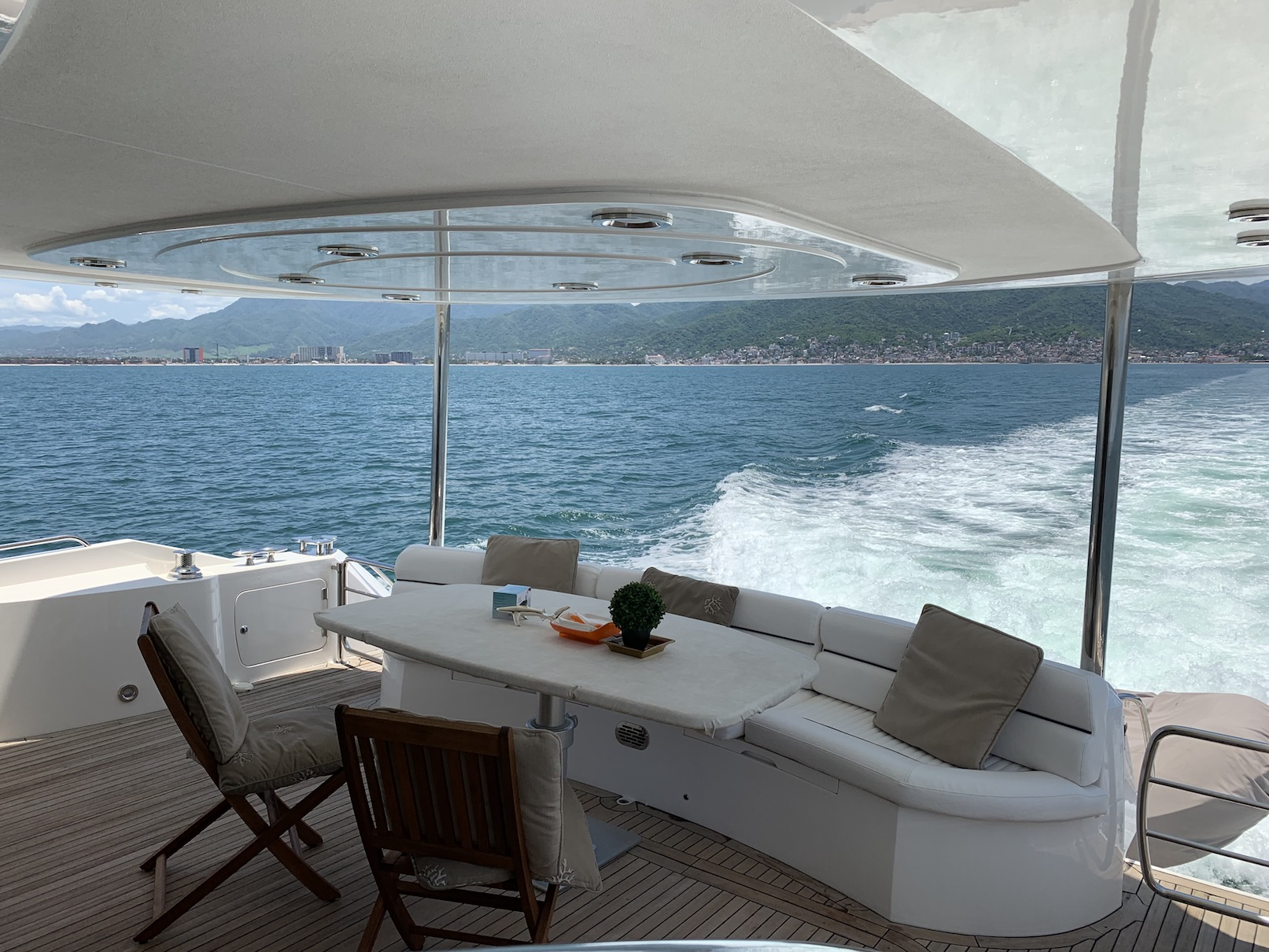76 ft. Sunseeker - Power Yacht - Aft - Cockpit Seat and Dining